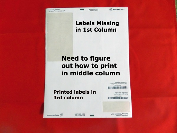 Printing Amazon FBA labels using a laser printer.