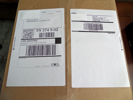 Stop taping your amazon fba shipping labels get free peel stick labels from ups