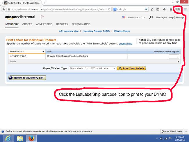 Using the DYMO LabelWriter 450 Turbo Printer to Print Amazon