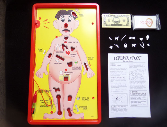 Operation Game Pieces