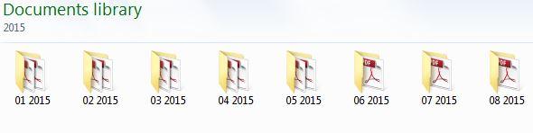 Month File Folder