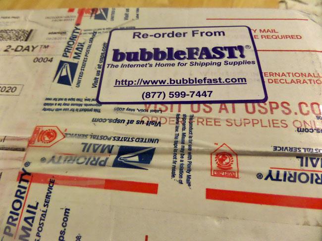BubbleFAST Shipment