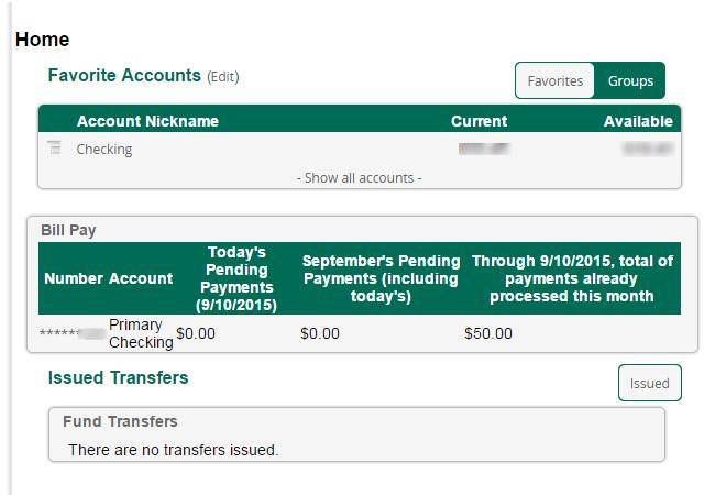 CCU Bill Pay