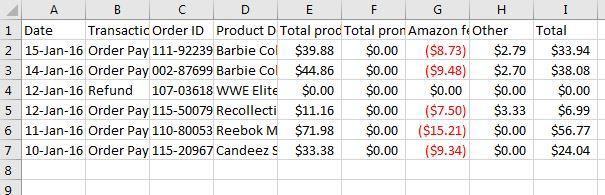 Excel COGS 2