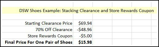 DSW Shoes Example