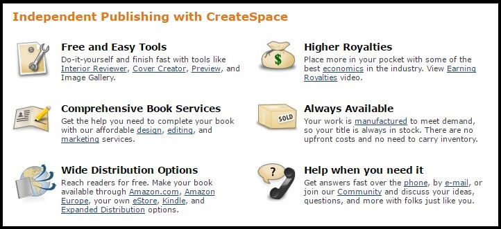 CreateSpace SHD