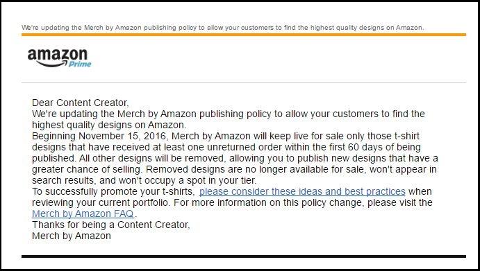Merch Publishing Policy