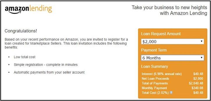 Amazon Lending Calculator 2000