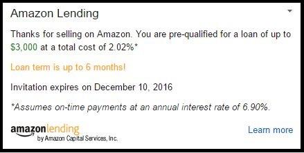 Amazon Lending Invitation