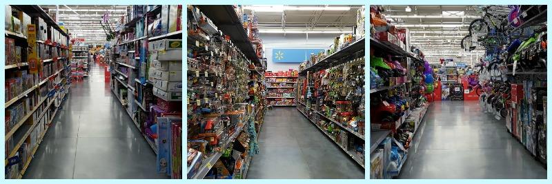 Empty Walmart Aisles on BF