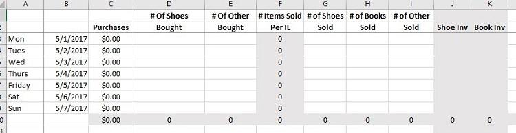 textbook inventory spreadsheet