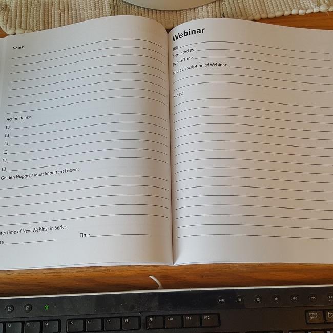 Webinar Notebook for Amazon FBA Sellers – Second Half Dreams